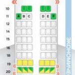 Схема салона и лучшие места в самолете Boeing 757-200 компании ВИМ-Авиа