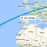 Время полета Уфа — Доминикана